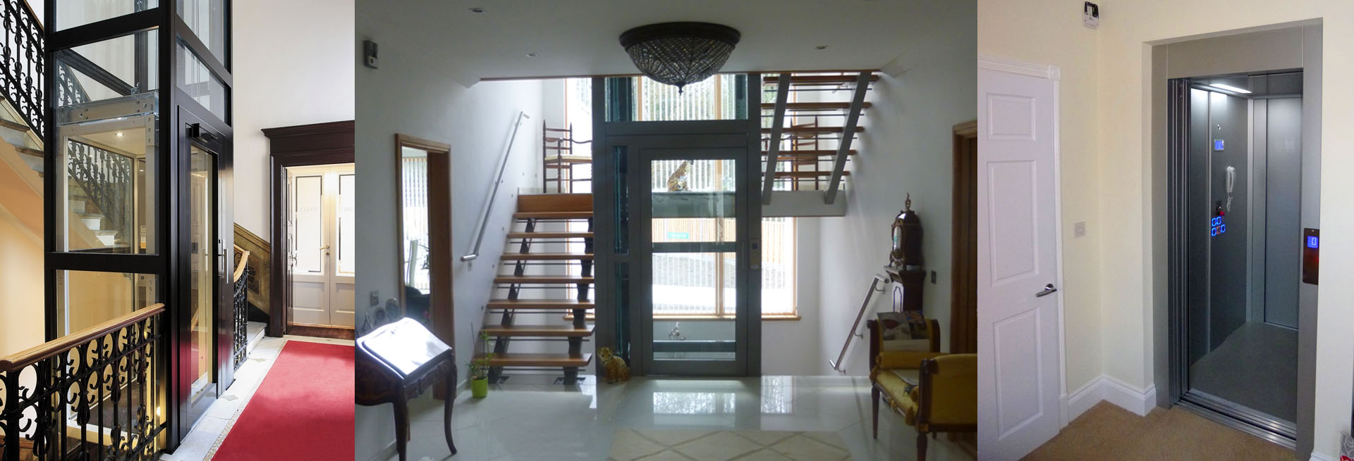 Slideshow Image showing three Lifts for Houses